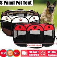 600D Pet Dog Cat Tent Playpen Exercise Playpen Soft Cage Fence Outdoor Folding