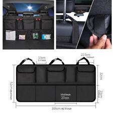 Car Trunk Organizer Rear Seat Storage Net Bag Headrest Install Black Universal