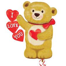 Teddy Bear Shaped Valentines Love Helium I Love you Teddy shape foil balloon