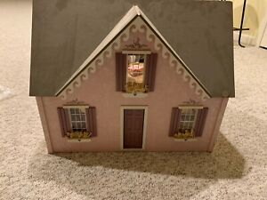 Pink Dollhouse with Furniture Vintage
