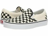 New Vans Classic Slip-On Black/White Checkerboard Canvas Unisex Kid's size 3