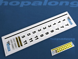 Scalextric/Slot Car 1/32 Scale Race Number Decals - ws025w