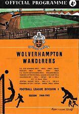 Football Programme>WOLVES v PORTSMOUTH Jan 1965 FAC