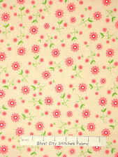 Floral Fabric - Daisy Flowers Delighted C2662 Buttery Riley Blake Designs - YARD