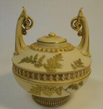 Rare Antique Royal Worcester Urn Biscuit Jar Blush Ivory Porcelain #1256 ZC3-5