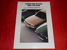 BMW 5er E34 Farben + Polster Farbkarte Prospekt von 1991