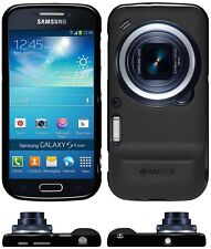 Amzer Exclusive Pudding Matte TPU Case Cover For Galaxy S4 Zoom SM-C1010 - Black