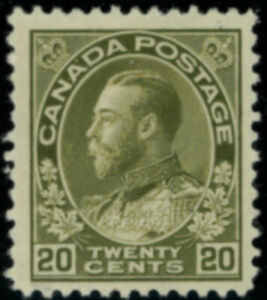 Canada  Stamps #119 mh olive green 20 cent FVF+
