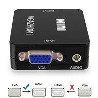 VGA to HDMI Converter VGA to HDMI Out 1080P Audio HD Video Converter Box