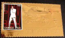 2006 MNH GRENADA ELVIS PRESLEY GOLD STAMP 70TH ANV OF ELVIS BIRTH ENTERTAINER