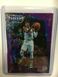 2018-19 Paul George panini threads Purple Dazzle parallel 38/99 base card #87