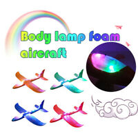 Foam Throwing Glider Airplane LED Aircraft Toy Hand Launch Airplane Model - UK
