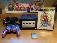 Black Nintendo Gamecube W/ Super Mario Sunshine, 1 Controller, 1 Memory Card GC2