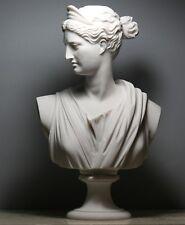 ARTEMIS DIANA Bust Head Greek Roman Goddess Statue Sculpture Cast Marble 11.8΄΄