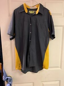 Red Kap Work Shirts Large Short Sleeve. Nice Used. 9 For $18 Grey/Yellow