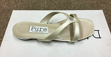 Ivory satin wedding bridal bridesmaid shoe Sizes 3 & 4 pure & precious CLAUDE