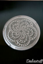French vintage ART DECO Frosted Glass Table Center trivet 1930 star astronomy