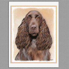 6 Field Spaniel Dog Blank Art Note Greeting Cards