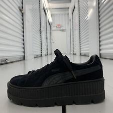 Puma Fenty Rihanna Suede Creeper Sneakers Black Shoes 366268-04 Womens US Sz 10