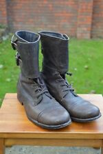 *AWESOME RARE!* AllSaints Mens DEMISE Leather Lace up military boots UK11 US12