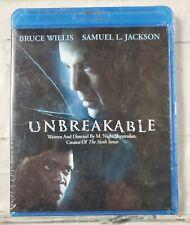Unbreakable (Blu-ray Disc, 2008) Bruce Willis Samuel Jackson Brand New Sealed