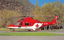 Swiss Air Ambulance REGA Agusta A 109K2 HB-XWB (c/n 10002)9/92 Airplane Postcard