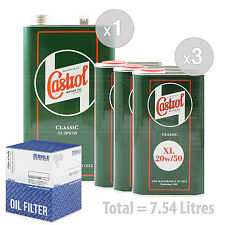 Engine Oil and Filter Service Kit 7 LITRES Castrol Classic XL 20W-50 7L