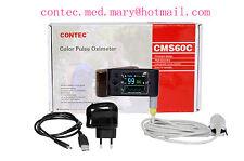 FDA CMS60C Pulse Oximeter Blood Oxygen Saturation SPO2 Pulse Rate Alarm,SW,USB