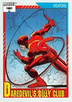 DAREDEVIL'S BILLY CLUB / Marvel Universe Series 2 (Impel 1991) BASE Card #129