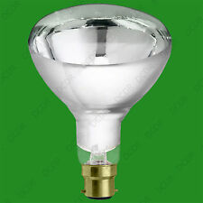 6x 250W Reflector R125 Infra Red Heat Lamp Clear B22 Light Bulb Catering Animals