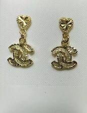 18k Yellow Gold Dangle Stud Back Earring 2.65GM