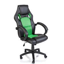 TRESKO® Sedia da ufficio girevole per casa Poltrona ufficio Racing Verde