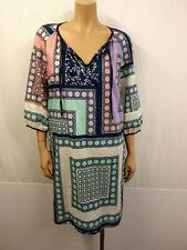 MARC O'POLO Designer Kleid Tunika Gr.42 Tunikakleid Blusenkleid farbig gemustert