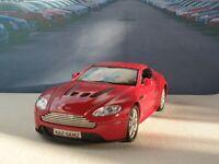 NEW BOYS TOYS ASTON MARTIN V12 VANTAGE RED 1.38 PERSONALISED MODEL CAR BIRTHDAY