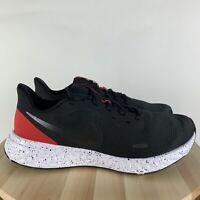 Nike Mens Revolution 5 Running Shoes Black Anthracite Red BQ3204-003 SIZE 11