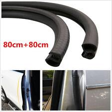2× B Pillar Car Door Edge Trim Rubber Seal Protector Guard Strip Black Protector