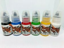World Famous Tattoo Ink - 6 Main Colors Set Size 1/2oz