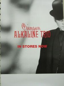 ALKALINE TRIO 2005 Crimson 2 sided promotional poster Flawless New Old Stock