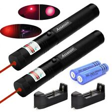 2Pc 900Miles Red Laser Pointer Pen Rechargeable Star Beam Light+2x 18650+Charger