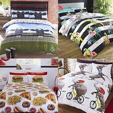 Novelty Animal Design Polycotton Duvet Cover Bed Sets Single Double King