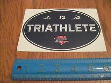 "Triathlon sticker, 4x6 over, ""Triathlete"", new, free Us shipping"
