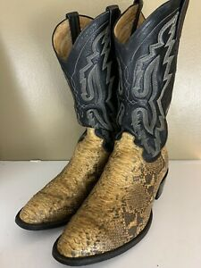 PANHANDLE SLIM Python Leather Western Cowboy Boots Size 12 D