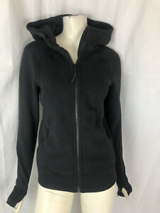 LULULEMON  size 4 black hooded sweatshirt jacket