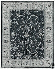 $1895 Restoration Hardware Nava Graphite Black Hand Knotted Rug 5x7 Wool