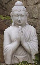 BUDDHA Betend Steinfigur Gartenfigur Skulptur Steinkunst Bayern BLACKFORM