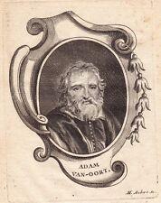 Gravure XVIIIe Adam van Noort Antwerp Anvers Pays Bas Peinture Peintre Rubens