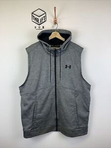UNDER ARMOUR, Size XXL, Grey, Small Logo, Full Zip, Sleeveless Hoody,*VGC*