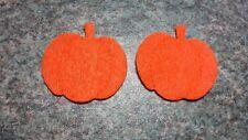 8 Felt die cut Plain pumpkins heads applique toppers craft sewing card