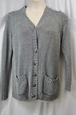 Jones New York Collection Woman Grey/Silver Cardigan Sweater Size 0X MSRP $149