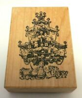 PSX Christmas Tree K370 Rubber Stamp Vintage 1987